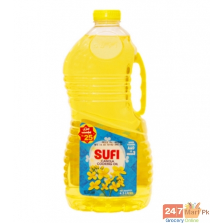 Sufi Canola Cooking Oil Bottle 4.5 ltr