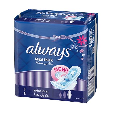 Always Pads Maxi Thick Extra Long 8 Pcs