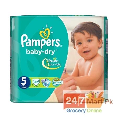 Pampers Diaper Baby Dry Night Junior 5 30Pcs 11-25kg