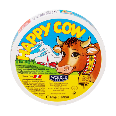 Happy Cow Cheese 8 Portions...