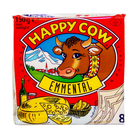 Happy Cow Emmental Cheese...